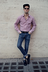 Mirko Massa - Tailor4less Shirt, H&M Jeans, H&M Hat, Christian Dior Sunglasses, Byblos Shoes - ROMAN STREETS
