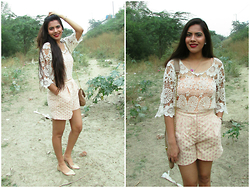 Pooja Mittal - Frontrowshop Spot Embroidery Shorts - Summer Farewell