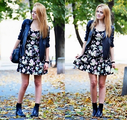 Judyta M. - New Yorker Dress, Stradivarius Shoes, Sheinside Jacket, Necklace, Bracelet, Lorus Watch - Girly look.