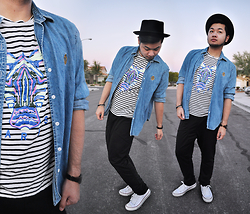 Shawn C. -  - Denim, stripes. (Visit my blog)