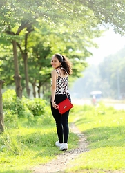 Terese Pham - Oasis Top, Mango Pants, Forever 21 Bag, Converse Sneakers - Weekend