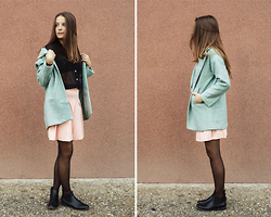 Emma Istvanffy - Blackfive Coat, Blackfive Skirt, Thrifted Blouse, Deichmann Boots - A Pastel Coat Instead Of A Dark One