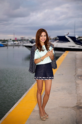 Christina Oh - Chanel Shorts, Chanel Jacket, Tibi Top, Valentino Shoes - COLUMBUS LOBSTER DINNER CRUISE