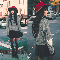 Rachel-Marie Iwanyszyn - Otte Nyc Hat, F Troupe Boots, Boohoo Sweater - I CARRY YOUR HEART.