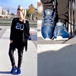 Fashiontwins - Adidas Shoes, Zara Pulli, Zara Jogging - Sporty twin