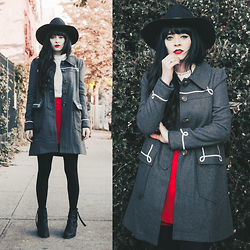 Rachel-Marie Iwanyszyn - Hello Holiday Coat, Acne Studios Boots - NO ONE SHOULD STAND WITHOUT A HAND TO HOLD.