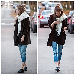 Alexandria Deanne - Urban Outfitters Cardigan, Gap Jeans, Jeffrey Campbell Shoes - Sweater Buns