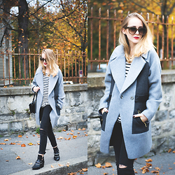 TIPHAINE MARIE - Coat, Pants, Boots, Sunnies, Bag - The perfect amount of oversized.