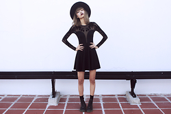 Vu Thien - Motel The Moonchild Dress, Dr. Martens Boots - MOTELROCKS : THE MOONCHILD DRESS