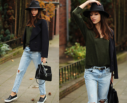 Bea G - Jacket, Sweater, Jeans, Shoes, Bag, Hat - Le Youth
