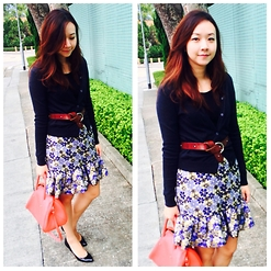 Rita C - Asos Flare Skirt, Brooks Brother Black Heels - All flare_111014