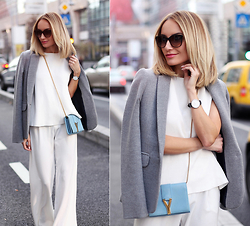 Silvia P. - Zara Top, Saint Laurent Purse, Daniel Wellington Watch, Victoria Beckham Sunnies - Big city lights