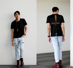 MR.BRIAN SEE - Topman Jeans, Dr. Martens Boots - Sexy Back