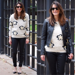 Peggy @ www.hallwaysaremyrunways.com - J Brand Pants, Valentino Shoes, Ray Ban Sunglasses, Gap Jacket, Marc By Jacobs Handbag - Daisies
