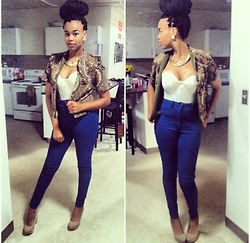 Tkeyah Grier - Gojane High Waisted Jeans - BOW DOWN