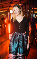Anastasiia Masiutkina - Valentino Accessories For The Hair, Massimo Dutti Sweater, Msgm Skirt, Tiffany & Co. Jewelry -  Look for attendance of The Great Gatsby ballet)