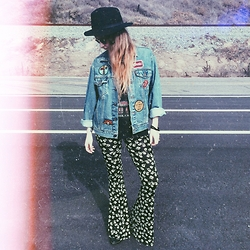 Sally S - Levi's® Patched Levi's Jacket, Forever 21 Bell Bottoms - Patched Perfection