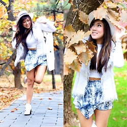 Desiree Adrienne Lim - Pink Manila Skort, Ripples By Jenny Top, Forever 21 Boots - Autumn