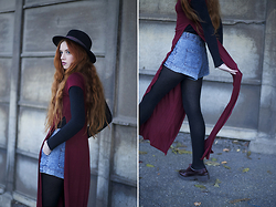 Karole Josefa Bonnet - C&A Hat, Missguided Top/Dresse, Forever 21 Short, Missguided Shoes - Purple