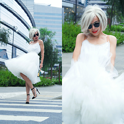 Priscila Diniz - Choies White Dress, Pumps - Ethereal