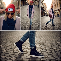 STREETCHATELLA ♥ - Northstar Sneakers, Closed Jeans, Next Coat - - WTF -