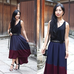 Lily T - Asos Skirt - ASOS DEEP PLUM SKIRT