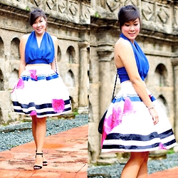 Desiree Adrienne Lim - Bkk Finds Top, Mags Skirt, Forever 21 Heels - Monday Blues
