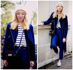 Typhaine - Monki Coat, Asos Jeans, Vintage Top, Vintage Beanie, Asos Bag, Converse Shoes - 2 in 1