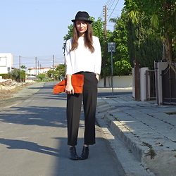 Melina Vou - Zara Open Back Knit, Melina Vou Tailored Trousers, Forever 21 Ankle Boots - Let's Talk Tailoring
