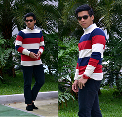 Sef Tiburcio - Sprinto Sunnies, Uniqlo Buttoned Down, F And H Sweater, Penshoppe Pants, Sm Milano Loafers - Save my Holiday.