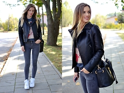 Kasia Z. -  - LEATHER JACKET & AIR FORCE 1