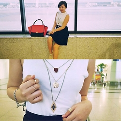 Krissy Pronto - Cotton On Top, Céline Bag, Juicy Couture Bracelet, New Look Necklace - At The Airport