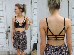 Stefanie A - Diy Bralette - DIY: One Teaspoon Caged Bra