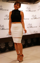 Shahani Lopez - Atmosphere Crop Top, Women White Pencil Skirt, Jellybean Classy - Stay Fab!