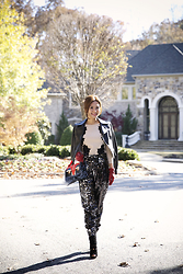 Christina Oh - Kate Spade Gloves, Alaia Shoes, Fendi Bag, Christian Dior Jacket, Milly Pants, Diane Von Furstenberg Top - JUST A LITTLE SHIMMER ;)