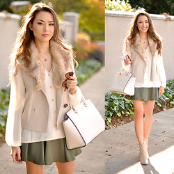 Jessica R. - Shopfunder Druzy Necklace, Vince Camuto Booties, Michael Kors Bag, Shopsosie Chiffon Blouse - California Cozy