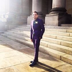 Umar Iqbal - Paul Smith Violet Suit, Oliver Sweeney Felino Blue - Violet Style