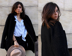 Liana . - Zara Coat, H&M Shirt, H&M Hat, Forever 21 Jeans - Normcore