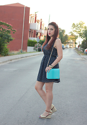 Kleoniki Tz. - H&M Dress, Axcel Bag - Summer polka dots