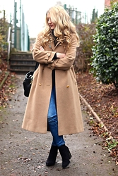 Charlotte C - Zara Bag, Coat, New Look Jeans, Miss Selfridge Boots, H&M Jumper - Camel Club