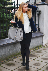 Marina Lebedeva - Zara Coat With Fur, Sheinside Sweater, Urban Outfitters Chelsea Boots - Feeling winter
