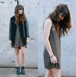 Tonya S. - Free People Shifting Gears Dress, Sheinside Coat, Jeffrey Campbell Boots - Metal