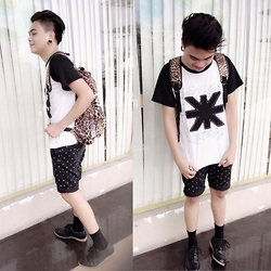 Rex Dela Cruz - Rebel Gear Animal Print Backpack, Bench Footwear, Burlington Midhigh Socks - Be Better!