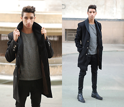 Saad Mouhannad - Urban Outfitters Coat, Zara Boots - Everything you can imagine is real.