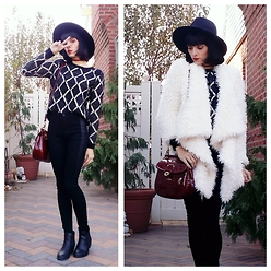 Adrianna DeVillacian - Forever 21 High Wasted Pants, Forever 21 Faux Fur Coat, Handmade Choker - The Fuzz