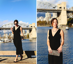 Alexandra G. - Zara Jumpsuit, Club Monaco Silver Clutch, J.Crew Suede Pumps - Jumpsuits for the Holidays