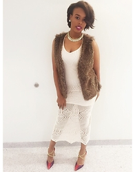 Tkeyah Grier - Forever 21 Dress, Shoedazzle Heels, Thrifted Fur - Class