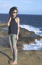 Nicole Chau - Banning Top Blouse, Seven For All Mankind Printed Pants, Salvatore Ferragamo Flats - Cliffs Edge