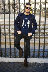 Mirko Massa - Trast T Shirt, H&M Jacket, Ray Ban Sunglasses, H&M Boots - AUTUMN LIGHT
