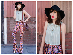 Amy Roiland - Hat, Nectar Clothing Bell Bottoms - Bells forever